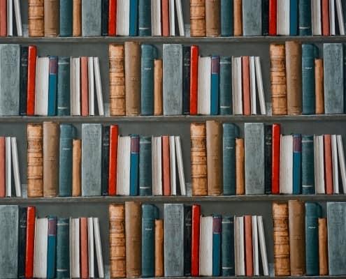Bücherwand / Gesetzeswand